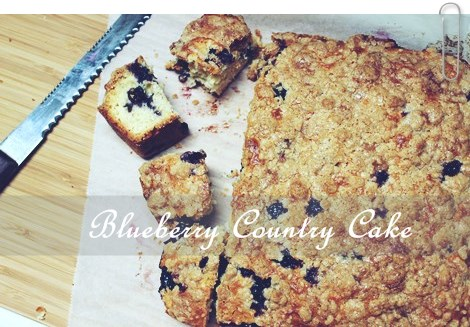 Blueberry Country Cake1