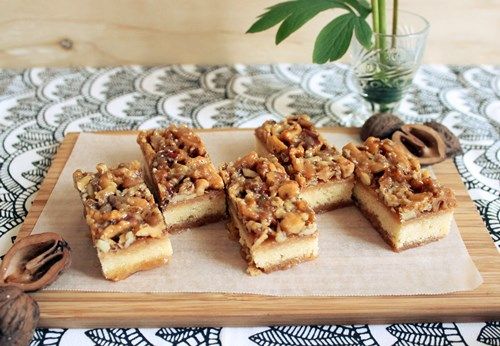 Caramel Walnut Bars12