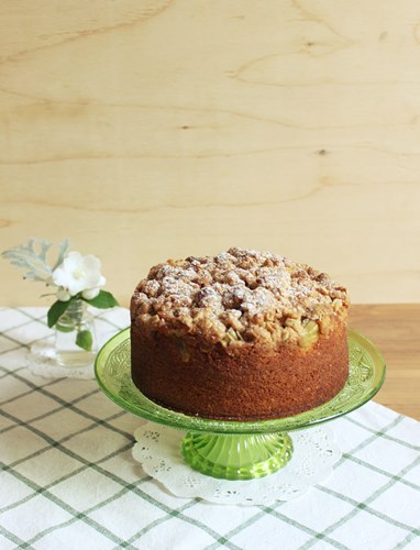Rhubarb Crumble Cake1